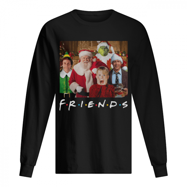 Friends Grinch Elf Santa Clark Griswold Kevin Characters Christmas  Long Sleeved T-shirt