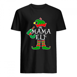Funny The Mama Elf Family Matching Group Christmas  Classic Men's T-shirt
