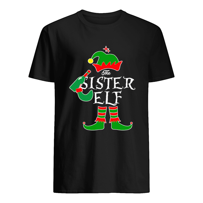 Funny The Sister Elf Family Matching Group Christmas Classic Mens T shirt