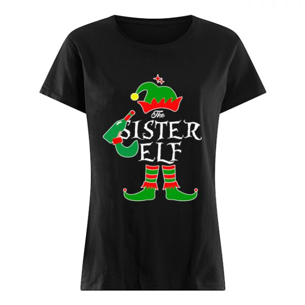 Funny The Sister Elf Family Matching Group Christmas  Classic Women's T-shirt