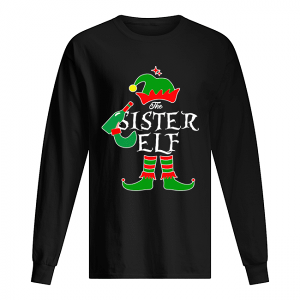Funny The Sister Elf Family Matching Group Christmas  Long Sleeved T-shirt