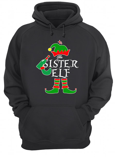 Funny The Sister Elf Family Matching Group Christmas  Unisex Hoodie