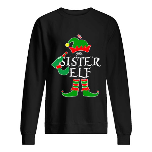 Funny The Sister Elf Family Matching Group Christmas  Unisex Sweatshirt