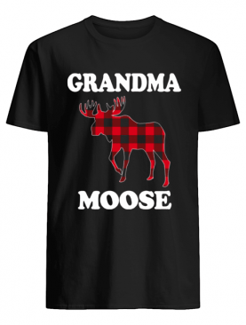 Grandma Moose Funny Christmas Plaid Buffalo shirt