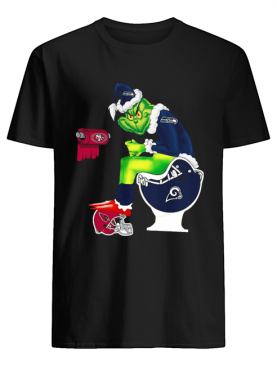 Grinch Seattle Seahawks San Francisco 49ers Los Angeles Rams Arizona Cardinals Toilet shirt