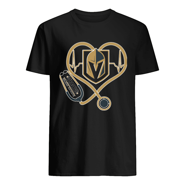 Heartbeat Nurse Love Vegas Golden Knights Classic Mens T shirt