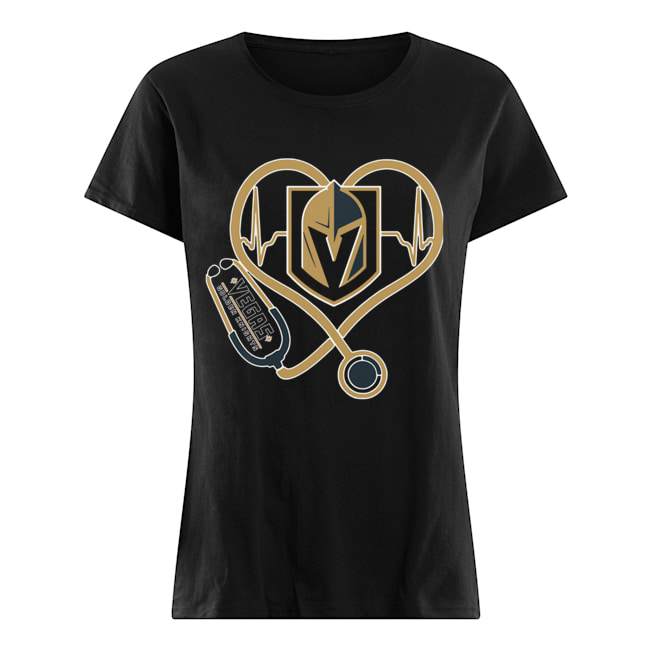 Heartbeat Nurse Love Vegas Golden Knights Classic Women's T-shirt