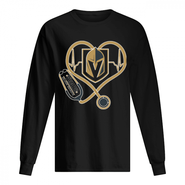 Heartbeat Nurse Love Vegas Golden Knights  Long Sleeved T-shirt