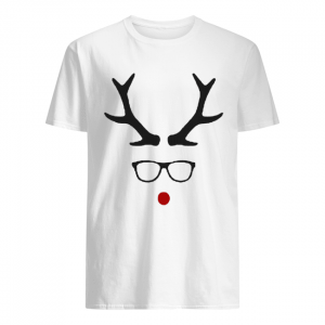 Hipster Rudolph Christmas  Classic Men's T-shirt