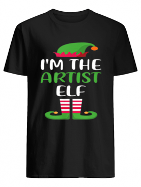 Hot I'm The Artist Elf Matching Family Group Christmas shirt