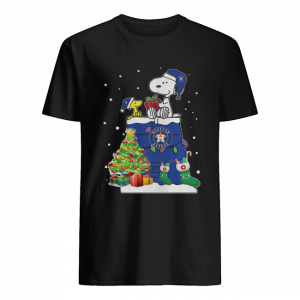 Houston Astros Snoopy And Woodstock Christmas  Classic Men's T-shirt