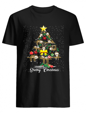 I Love Slothy Christmas Tree shirt
