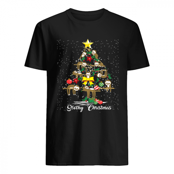 I Love Slothy Christmas Tree  Classic Men's T-shirt