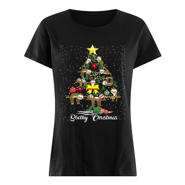 I Love Slothy Christmas Tree  Classic Women's T-shirt