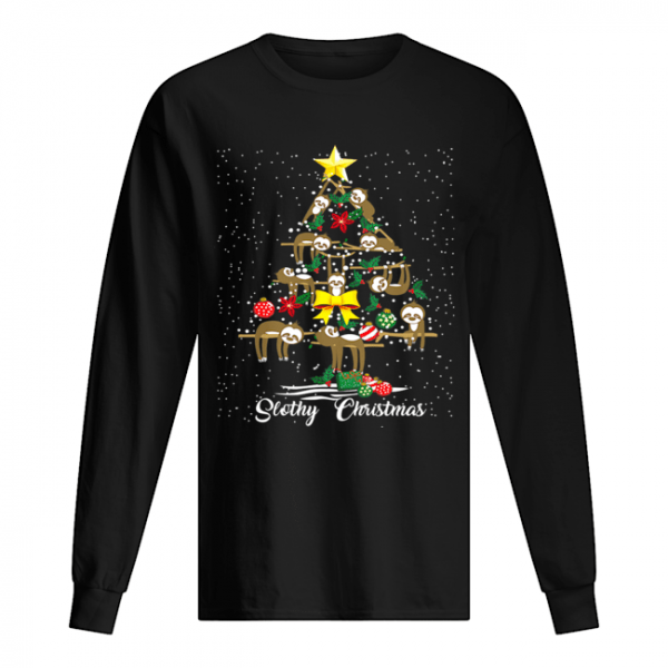 I Love Slothy Christmas Tree  Long Sleeved T-shirt