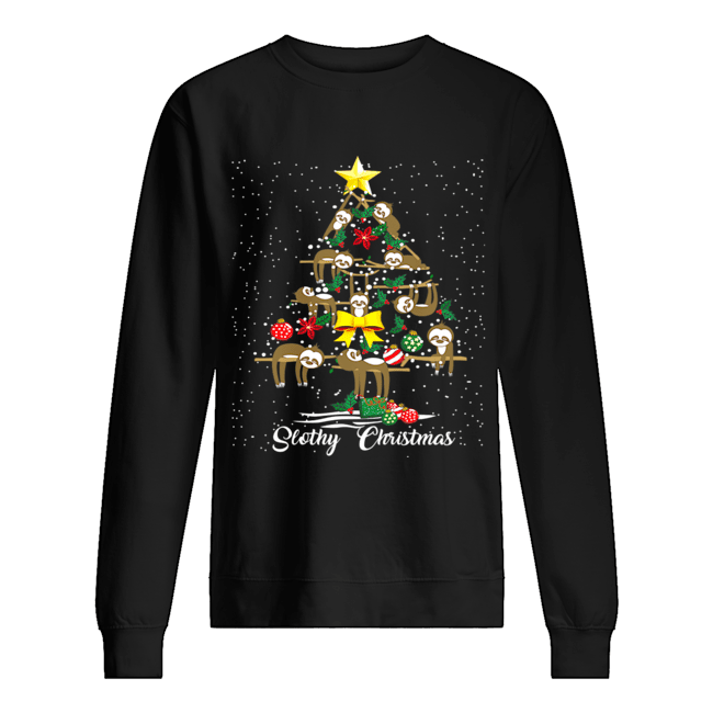 I Love Slothy Christmas Tree  Unisex Sweatshirt