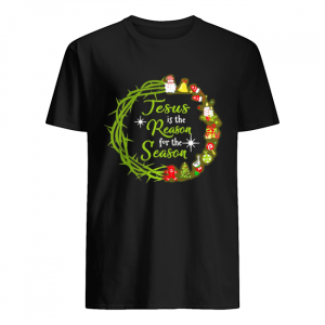 Jesus Is The Reason For The Season Christmas wreath  Classic Men's T-shirt