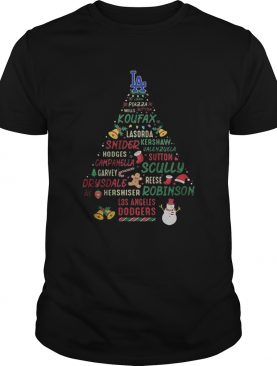 LA Koufax Snider Scully Robinson Dodgers Christmas Tree shirt