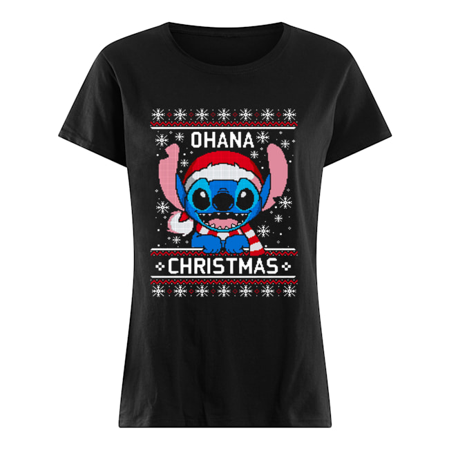 Lilo And Stitch Ugly Christmas  Classic Women's T-shirt