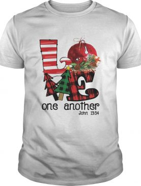 Love one another John 1334 Christmas shirt