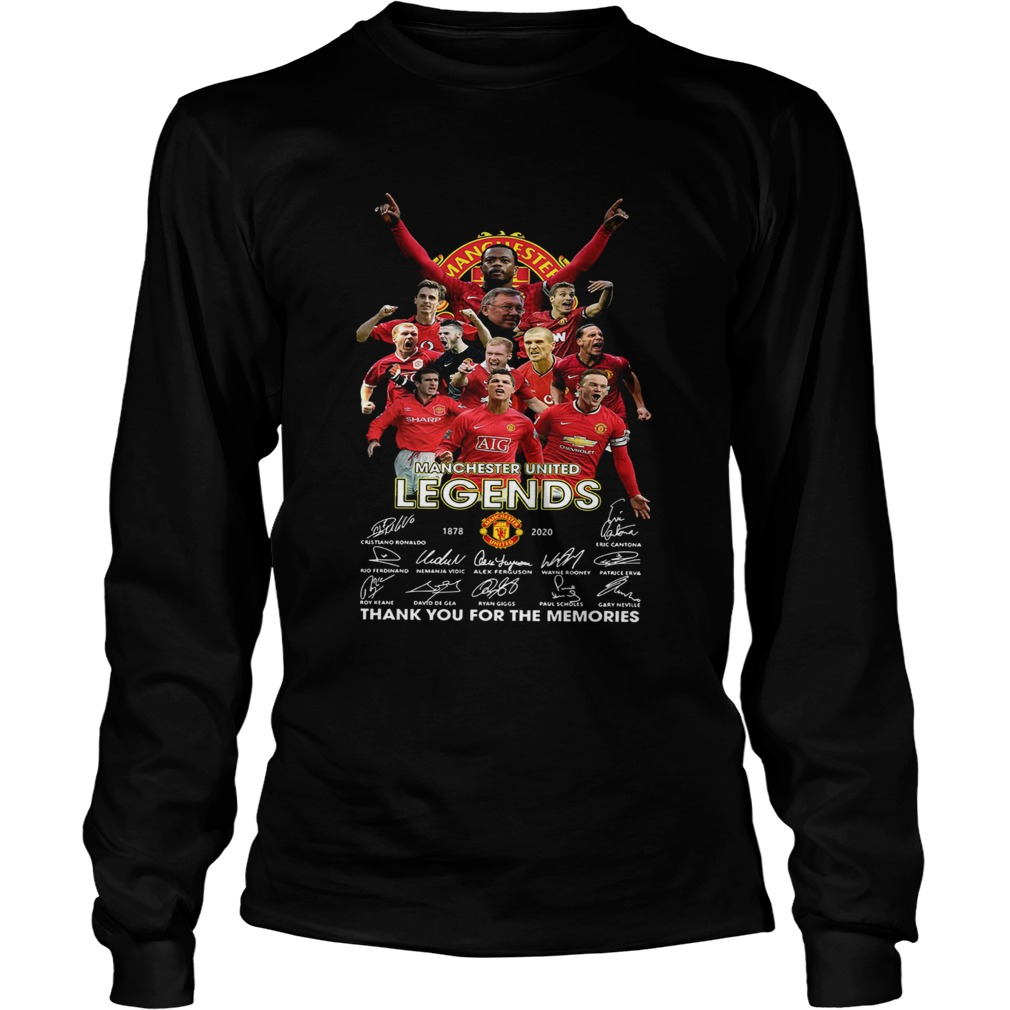 Manchester United Legend 1878 2020 thank you for the memories signatures  LongSleeve