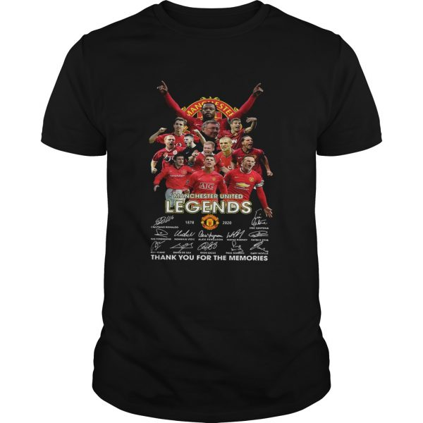 Manchester United Legend 1878 2020 thank you for the memories signatures  Unisex