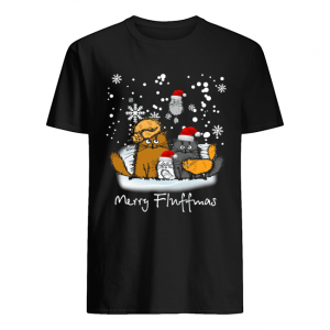 Merry Fluffmas cats funny  Classic Men's T-shirt