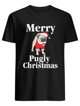 Merry Pugly Christmas Pug Xmas Dog Lover shirt