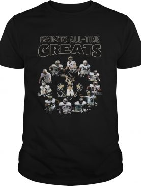 New Orleans Saints All Time Greats Players Signatures shirt