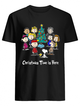 Peanuts Charlie Brown Snoopy Christmas Time is here shirt