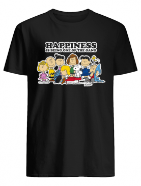 Peanuts Charlie Brown Snoopy Happiness is being one of the Gang shirt
