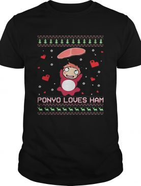 Ponyo loves ham ugly Christmas shirt