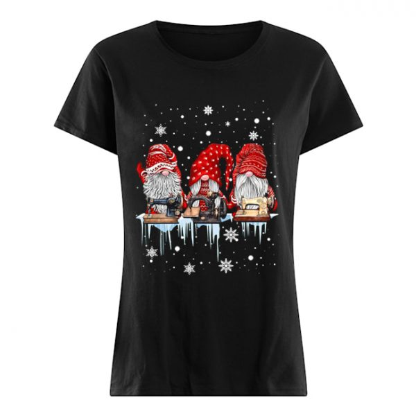 Red Gnome Sewing Christmas  Classic Women's T-shirt