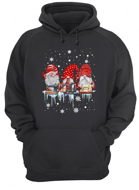 Red Gnome Sewing Christmas  Unisex Hoodie