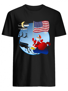 Santa Claus with American Flag shirt
