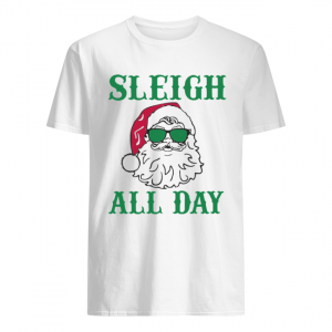 Santa Sleigh All Day Christmas  Classic Men's T-shirt