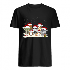 Star War Yoda Chewbacca Cartoon R2D2 Chewbacca Trooper Christmas  Classic Men's T-shirt