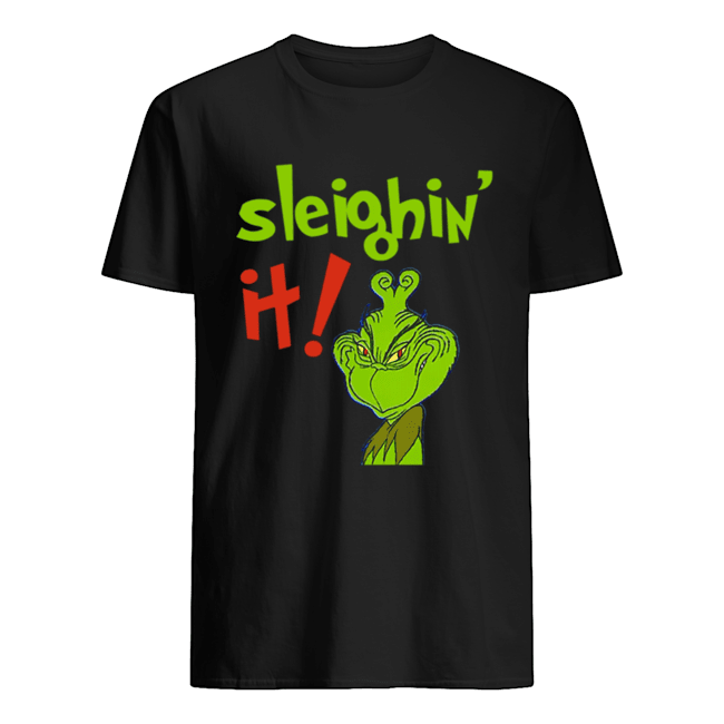 The Grinch Sleighin It Funny How The Grinch Stole Christmas Classic Mens T shirt