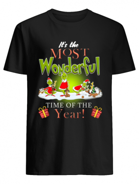 The Most Wonderful Grinch Time of The Year Christmas shirt