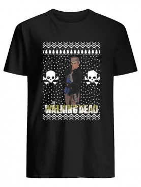 The Walking Dead Rosita Espinosa Santa Hat Christmas shirt