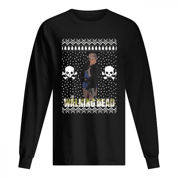 The Walking Dead Rosita Espinosa Santa Hat Christmas  Long Sleeved T-shirt