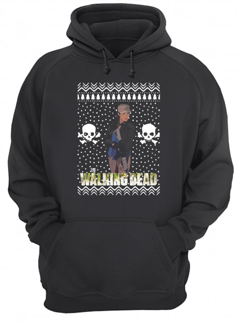 The Walking Dead Rosita Espinosa Santa Hat Christmas  Unisex Hoodie