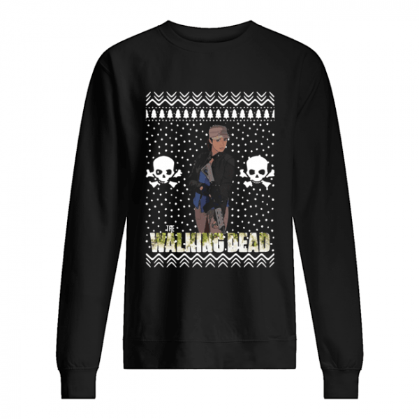 The Walking Dead Rosita Espinosa Santa Hat Christmas  Unisex Sweatshirt