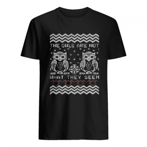The owls are not what they seem Christmas ugly  Classic Men's T-shirt