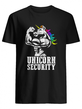 Top Unicorn Security Rainbow Muscle Manly Funny Christmas Gift shirt