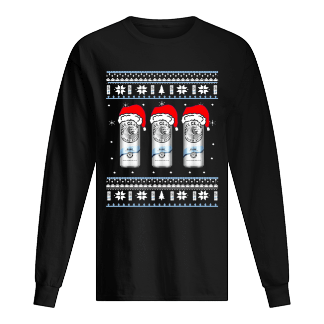 White Claw Pure Ugly Christmas Long Sleeved T-shirt