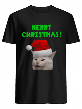 Yelling woman Cat Merry Christmas shirt