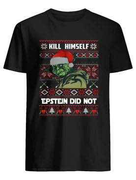 kill himself Epstein didnt ugly christmas Yoda shirt