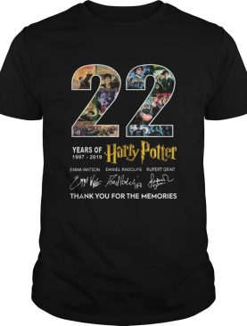 22 Years Of 19772019 Harry Potter Thank You For The Memories shirt