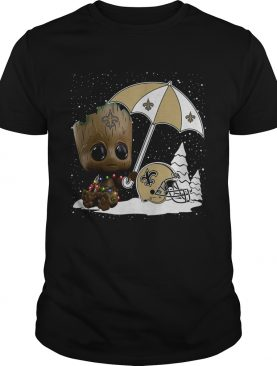 Baby Groot New Orleans Saints Christmas shirt
